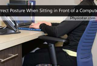correct posture when sitting in front of a computer