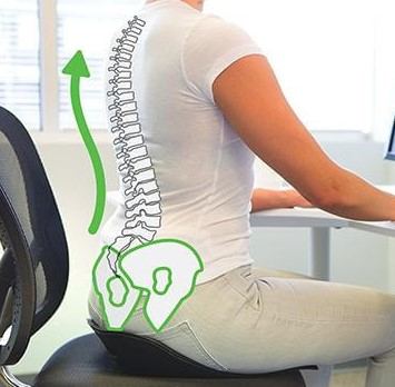 sitting on backjoy sitsmart posture plus